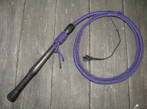 ebony handle cow whip