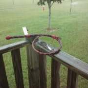 4ft whip in the rain.
